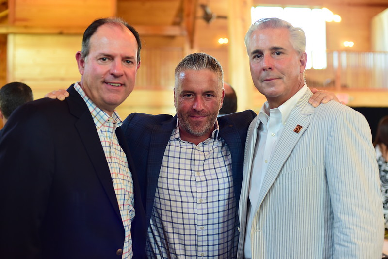 Ward Melhuish, Chris Doran and George Van Tassel,  Creighton Farms Invitational Dinner, June 24, 2018, Nancy Milburn Kleck