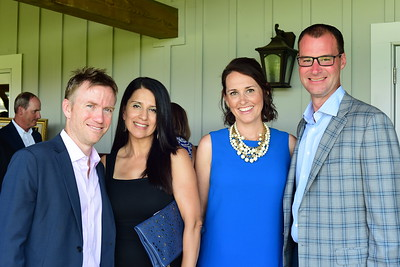 Greg and Soraya Scalley, Jenn Scheurich and Tim Spadafore,  Creighton Farms Invitational Dinner, June 24, 2018, Nancy Milburn Kleck
