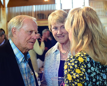 Jack and Barbara Nicklaus with Sheila Clemens,  Creighton Farms Invitational Dinner, June 24, 2018, Nancy Milburn Kleck