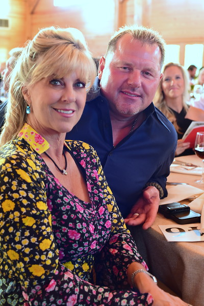 Sheila and Roger Clemens,  Creighton Farms Invitational Dinner, June 24, 2018, Nancy Milburn Kleck