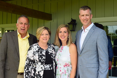 Pierre and Deborah Ferguson, and Kelly and Warren Ralston,  Creighton Farms Invitational Dinner, June 24, 2018, Nancy Milburn Kleck