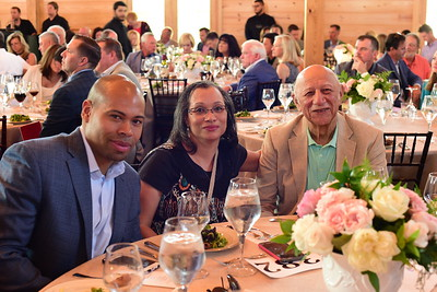 Sean Gooden, Laura Mitchell, and Hardy Reed,  Creighton Farms Invitational Dinner, June 24, 2018, Nancy Milburn Kleck