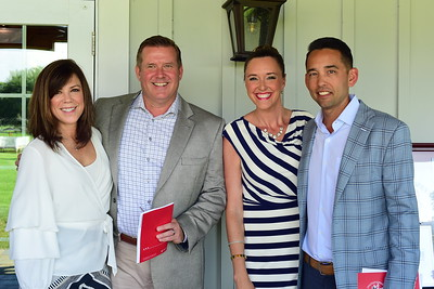 Wesley and Griff Harrison, and Amanda and Sean Fritts,  Creighton Farms Invitational Dinner, June 24, 2018, Nancy Milburn Kleck