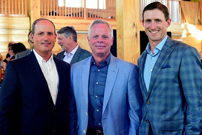 Tom Greenspan, Mike McKinney and Paddy Cullen,  Creighton Farms Invitational Dinner, June 24, 2018, Nancy Milburn Kleck