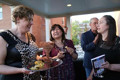 Karen Joan Topping, Jennifer Chung, Lisa Greaves, DC Art Center, Cuisine des Artistes, the Woodrow Wilson House, May 24, 2018