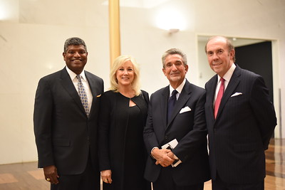 Leo Brooks, Debbie Rub-Brooks, Ted Leonsis, Pat Butler. DC CAPital Stars Tallent Competition. February 28, 2018. Amanda Warden.