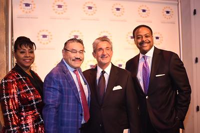 Argelia Rodriguez, Robert Hisaoka, Ted Leonsis, Leon Harris. DC CAPital Stars Tallent Competition. February 28, 2018. Amanda Warden.