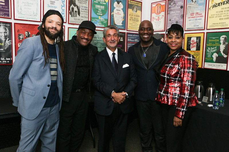 Savion Glover, Donnie Simpson, Ted Leonsis, William Downing, Argelia Rodriguez. DC CAPital Tallent Competition. February 28, 2018. Amanda Warden.