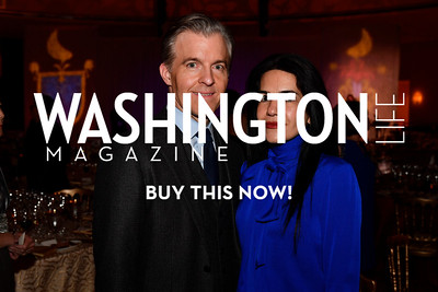 WASHINGTON, DC - FEBRUARY 9:  Kevin Fearnow and Nazgol Fearnow attend the D'Vine Affair at the Embassy of Italy on February 9, 2018 in Washington, DC.  (Photo by Larry French/Washington Life Magazine)