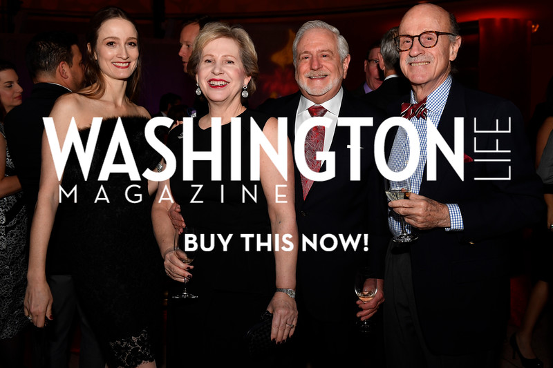 WASHINGTON, DC - FEBRUARY 9:  (L-R) Julie Kent, artistic director of the Washington Ballet, Lisa Barry, Jim Gale and Finlay Lewis attend the D'Vine Affair at the Embassy of Italy on February 9, 2018 in Washington, DC.  (Photo by Larry French/Washington Life Magazine)
