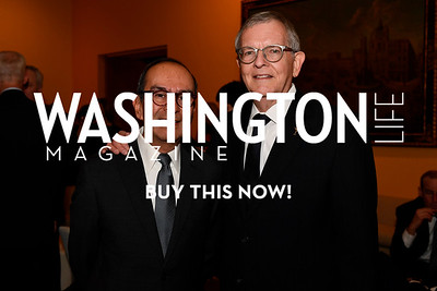 WASHINGTON, DC - FEBRUARY 9:  Elmer Mendez and Richard Mahan attend the D'Vine Affair at the Embassy of Italy on February 9, 2018 in Washington, DC.  (Photo by Larry French/Washington Life Magazine)
