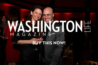 WASHINGTON, DC - FEBRUARY 9:  Kristina Windom  and Mimmo Miccolis attend the D'Vine Affair at the Embassy of Italy on February 9, 2018 in Washington, DC.  (Photo by Larry French/Washington Life Magazine)