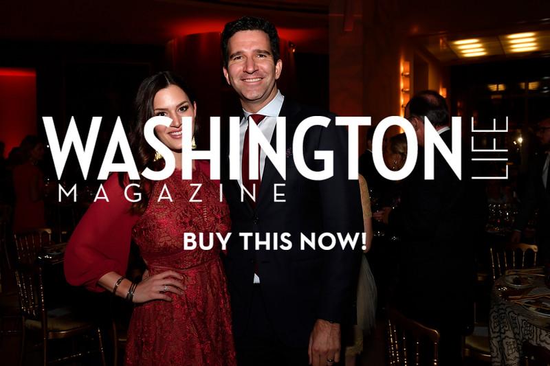 WASHINGTON, DC - FEBRUARY 9:  Megan Damron and Doug Damron attend the D'Vine Affair at the Embassy of Italy on February 9, 2018 in Washington, DC.  (Photo by Larry French/Washington Life Magazine)