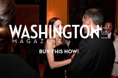 WASHINGTON, DC - FEBRUARY 9:  Julie Kent, artistic director of the Washington Ballet speaks with His Excellency the Ambassador of Italy to the United States Armando Varricchio at the D'Vine Affair at the Embassy of Italy on February 9, 2018 in Washington, DC.  (Photo by Larry French/Washington Life Magazine)