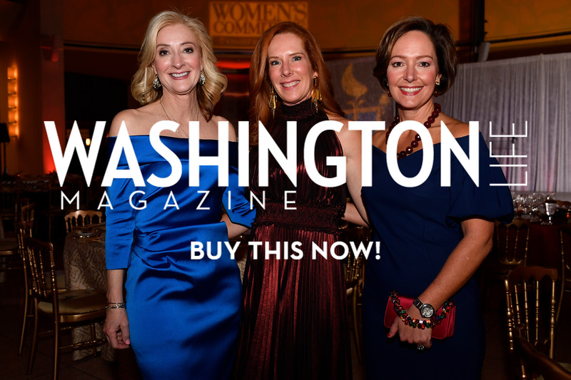 WASHINGTON, DC - FEBRUARY 9:  (L-R) Co-Chairs Natalie von Seelen, Jacqueline Henry and Sarah Foster  attend the D'Vine Affair at the Embassy of Italy on February 9, 2018 in Washington, DC.  (Photo by Larry French/Washington Life Magazine)