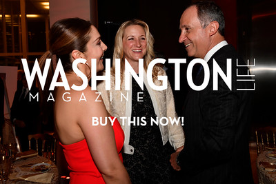 WASHINGTON, DC - FEBRUARY 9:  (L-R) Micky Farivar, Carrie Marriott and His Excellency the Ambassador of Italy to the United States Armando Varricchio attend the D'Vine Affair at the Embassy of Italy on February 9, 2018 in Washington, DC.  (Photo by Larry French/Washington Life Magazine)