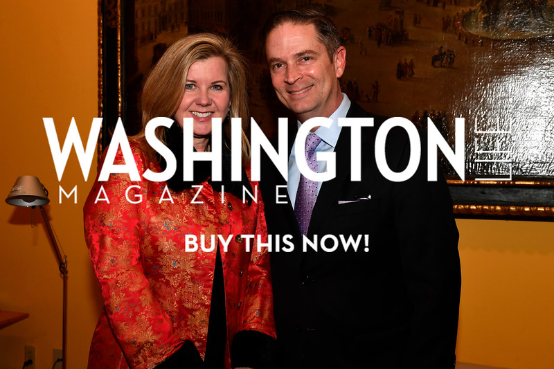 WASHINGTON, DC - FEBRUARY 9:  Francessa Cox and John Cox attend the D'Vine Affair at the Embassy of Italy on February 9, 2018 in Washington, DC.  (Photo by Larry French/Washington Life Magazine)