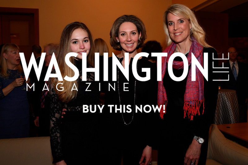 WASHINGTON, DC - FEBRUARY 9:  (L-R) Angelina Gozzi, Jessica Gozzi and Cindy Macias attend the D'Vine Affair at the Embassy of Italy on February 9, 2018 in Washington, DC.  (Photo by Larry French/Washington Life Magazine)