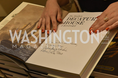 The White House Historical Association host the 200th Anniversary of the Historic Decatur House, and launch of the book, The Stephen Decatur House: A History.  August 1, 2018.  Photo by Ben Droz.