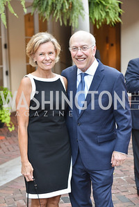 Alison Newman, Kurt Newman,  The White House Historical Association host the 200th Anniversary of the Historic Decatur House, and launch of the book, The Stephen Decatur House: A History.  August 1, 2018.  Photo by Ben Droz.