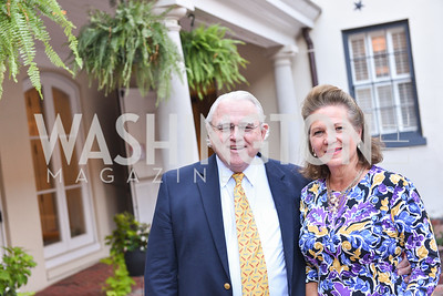 John Stinson, Beverley Stinson,  The White House Historical Association host the 200th Anniversary of the Historic Decatur House, and launch of the book, The Stephen Decatur House: A History.  August 1, 2018.  Photo by Ben Droz.