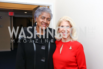 """Donna Brazile, Kandie Stroud. Photo by Tony Powell. Donna Brazile """"Hack's"""" Book Party. WNDC"""