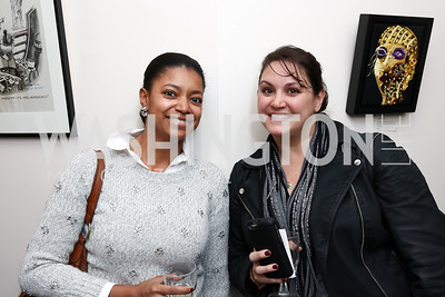 "Julie Green, Rania Batrice. Photo by Tony Powell. Donna Brazile ""Hack's"" Book Party. WNDC"