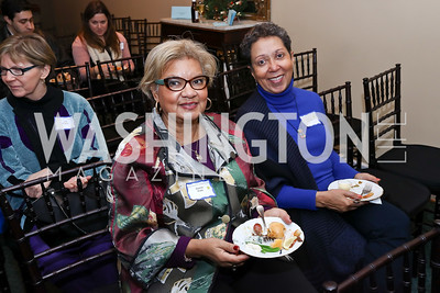 "Donna Potts, Charlotte Holloman. Photo by Tony Powell. Donna Brazile ""Hack's"" Book Party. WNDC"