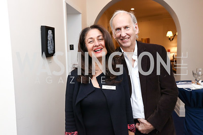 """Nuchhi and Bill Currier. Photo by Tony Powell. Donna Brazile """"Hack's"""" Book Party. WNDC"""