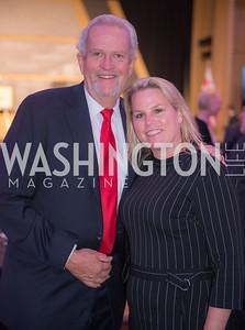 Jack Davies, Cathy Merrill Williams, Jeff Bezos Speaks, at Economic Club of Washington, DC 32nd Milestone Celebration, on The David Rubenstein Show.  September 13, 2018, photo by Ben Droz.