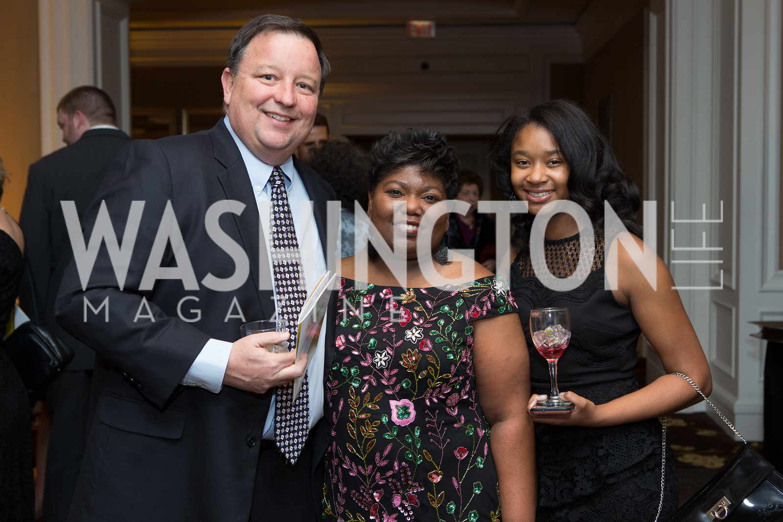 Mike McDonald, Enica Russel, Logan Russell Fearless Women Awards Ritz Carlton Tysons Corner January 21, 2018 Photo by Naku Mayo