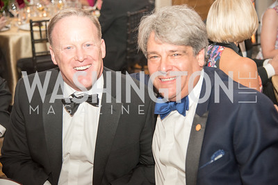 Sean Spicer, Alan Behar,  Harvard Business School, Leadership Gala, DC, The Four Seasons, June 13, 2018.  Photo by Ben Droz.