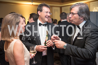 Luigi Ruggerone, Alessandra Di Renzo, Giovanni Pellerito, Harvard Business School, Leadership Gala, DC, The Four Seasons, June 13, 2018.  Photo by Ben Droz.