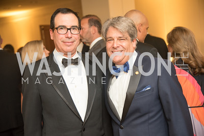 Secretary Steven Mnuchin, Alan Behar,  Harvard Business School, Leadership Gala, DC, The Four Seasons, June 13, 2018.  Photo by Ben Droz.
