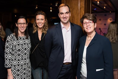 Malia Arrington, Alli and Chad Sybnor with Shelly Pfohl attend the Hill Impact event at the Hamilton on January 11, 2018.  Photography by Joy Asico