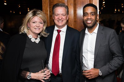 Kay and Andrew Gappy with Geof Rankin attend the Hill Impact event at the Hamilton on January 11, 2018.  Photography by Joy Asico