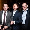 Eric Sodorff, Kevin Backus and Jonathan Evans attend the Hill Impact event at the Hamilton on January 11, 2018.<br /> <br /> Photography by Joy Asico