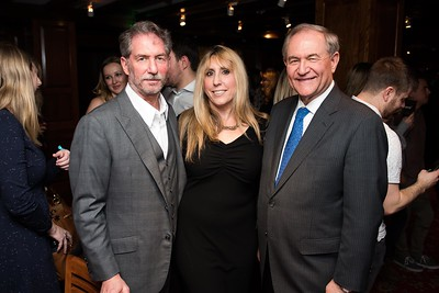 Mitch Kernus, Shari Simmons and Governor Jim Gilmore attend the Hill Impact event at the Hamilton on January 11, 2018.  Photography by Joy Asico