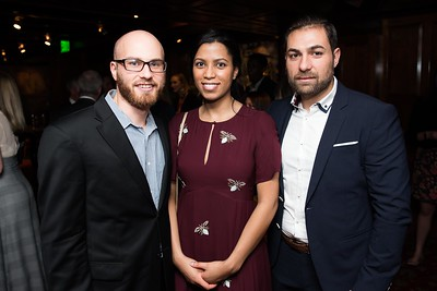 Tom Houge, Andrea Monsoon and Erik Maltais attend the Hill Impact event at the Hamilton on January 11, 2018.  Photography by Joy Asico