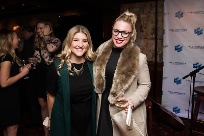 Amanda Vonleer and Heather Hardy attend the Hill Impact event at the Hamilton on January 11, 2018.  Photography by Joy Asico
