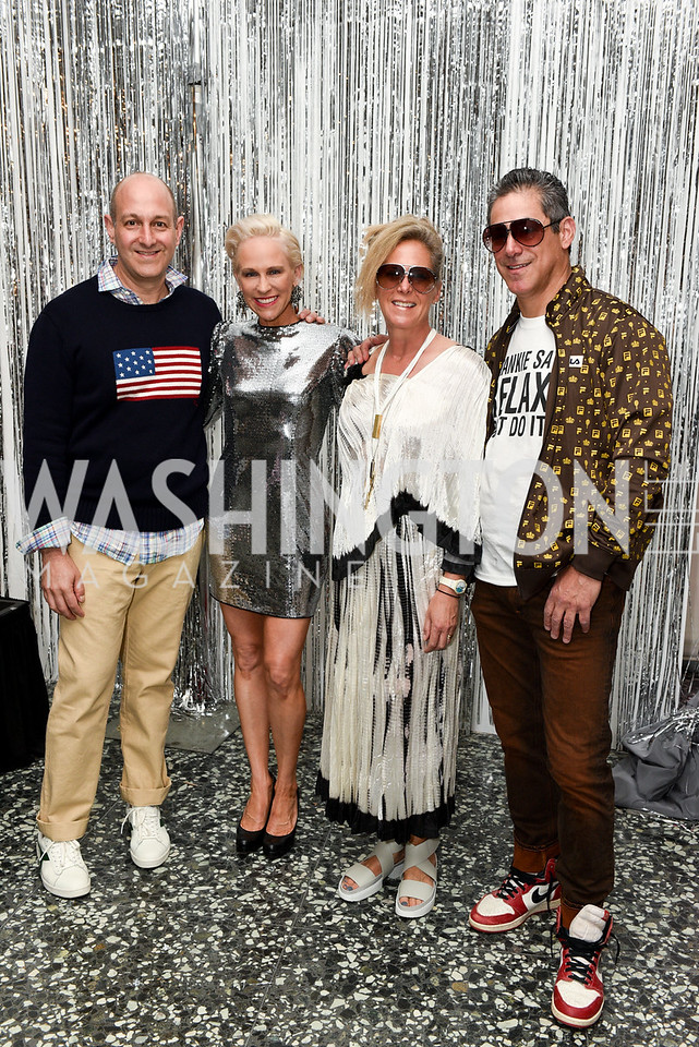 Dan Sallick, Elizabeth Miller, Debbie Dockser, Brad Dockser, Hirshhorn Spring Gala, Jeff Koons and Jennifer Rubell, May 12, 2018, photo by Ben Droz.