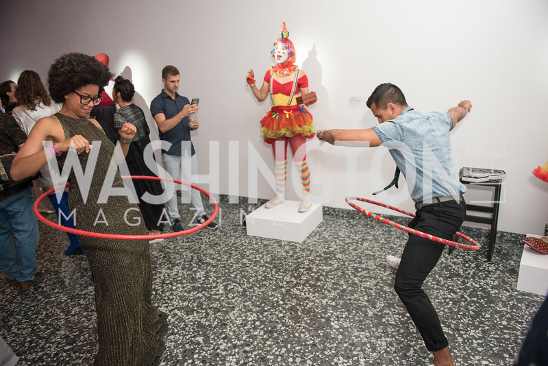 Morgan Fykes, Diego Gonzalez-Zumiga,  Hirshhorn Spring Gala, Jeff Koons and Jennifer Rubell, May 12, 2018, photo by Ben Droz.