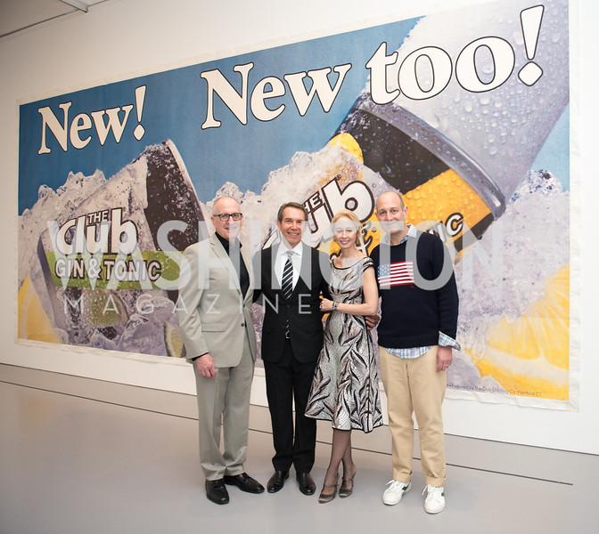David Skorton, Jeff Koons, Melissa Chiu, Dan Sallick, Hirshhorn Spring Gala, Jeff Koons and Jennifer Rubell, May 12, 2018, photo by Ben Droz.
