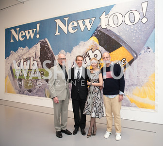 David Skorton, Jeff Koons, Melissa Chiu, Dan Sallick, Hirshhorn Spring Gala, Jeff Koons and Jennifer Rubell, May 12, 2018, photo by Ben Droz.