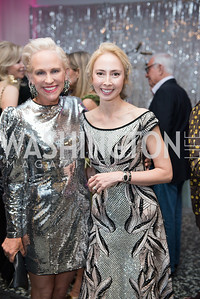 Elizabeth Miller, Melissa Chiu, Hirshhorn Spring Gala, Jeff Koons and Jennifer Rubell, May 12, 2018, photo by Ben Droz.