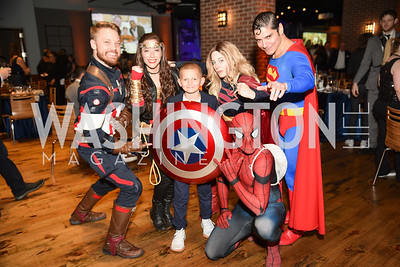 Daniel Phillips, Nicole Pitts, Addie Cannizzaro, George Torres, Steve Custer,  Hope for Henry, 15th Anniversary Extravaganza, ' Sparkles and Sneakers', City Winery in Ivy City. October 20, 2018, photo by Ben Droz.