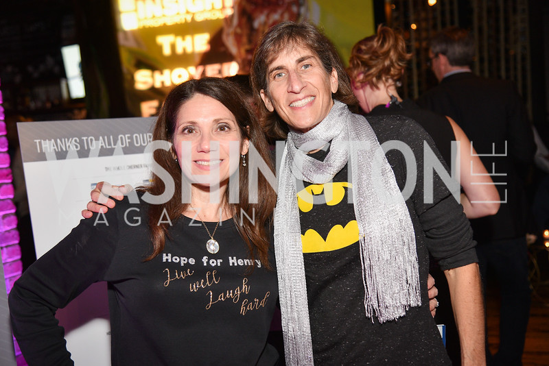 Joyce Kammerman, Debbie Blum,  Hope for Henry, 15th Anniversary Extravaganza, ' Sparkles and Sneakers', City Winery in Ivy City. October 20, 2018, photo by Ben Droz.