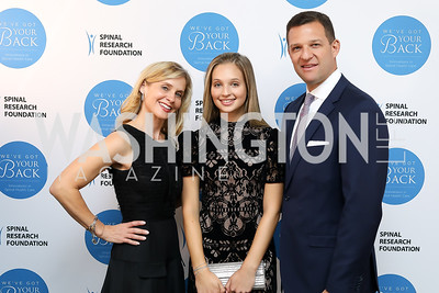 Sydnee Lubar, Stacey Lubar and Greg Lubar. Photo by Tony Powell. Inaugural Spinal Research Foundation Gala. Ritz Tysons. November 3, 2018