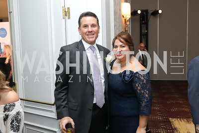 Brian Nault, Rita Roy. Photo by Tony Powell. Inaugural Spinal Research Foundation Gala. Ritz Tysons. November 3, 2018