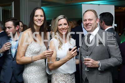 Cassie Root, Stacia Collins, Chad Arnold. Photo by Tony Powell. Inaugural Spinal Research Foundation Gala. Ritz Tysons. November 3, 2018
